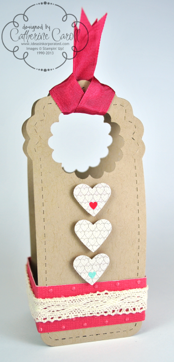 Valentine's Two Tags treat holder