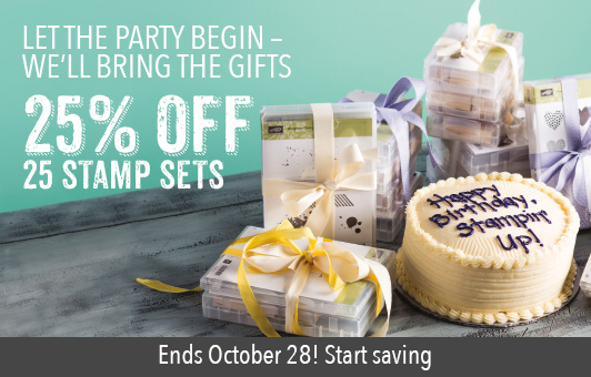 save 25% on 25 stamp sets