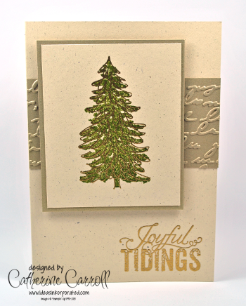 Embossed Evergreen for Less is More