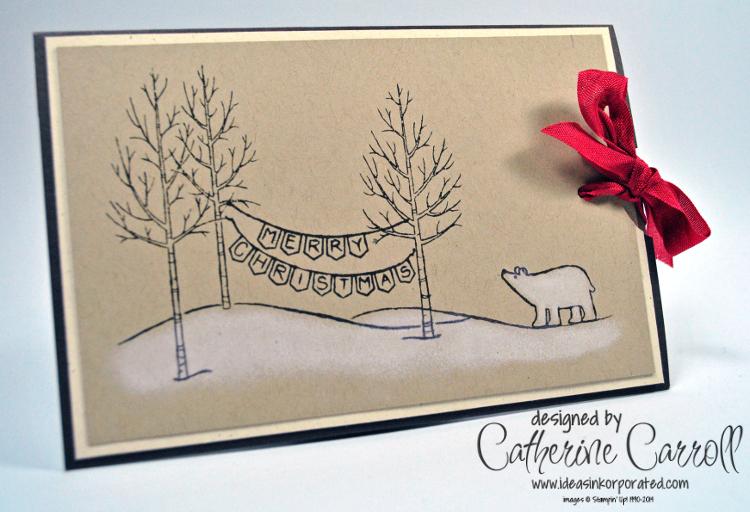 A White Christmas Slider Card