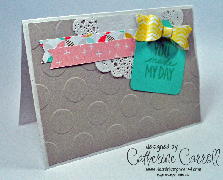 You made my day tag topper card