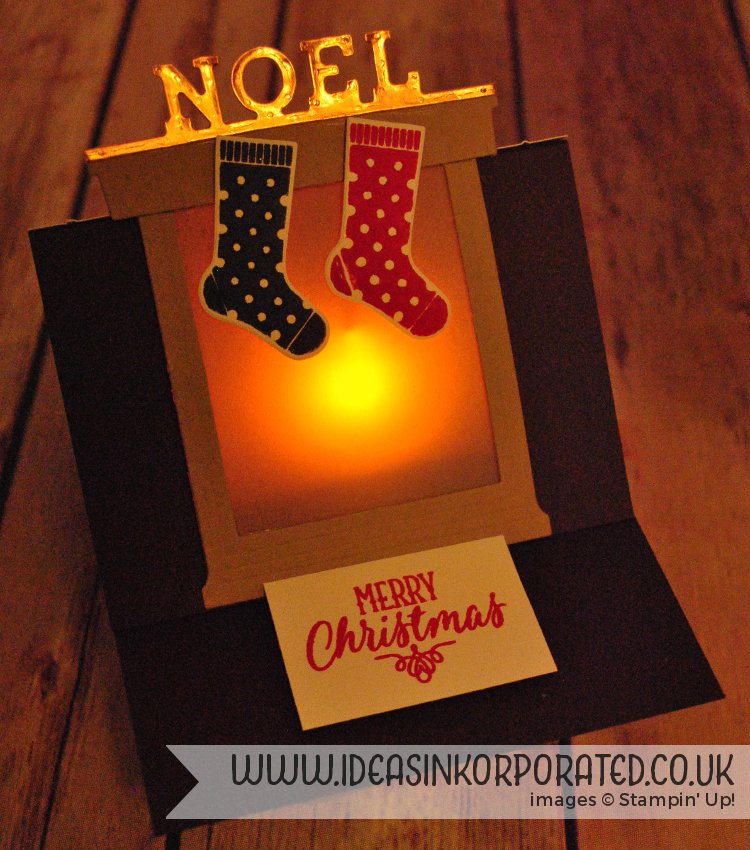 hang your stocking fireplace lit