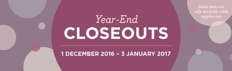 Year-End Closeouts from Stampin' Up!